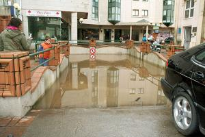 Parking inundado